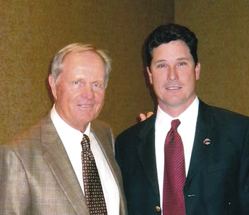 Jack Nicklaus and Brad Sparling of Play Golf in College